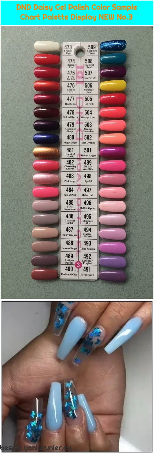 Dnd Daisy Gel Polish Color Sample Chart Palette Display New No 3 Bessie Reese S Blog